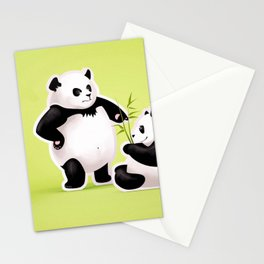 Panda Couple Stationery Cards