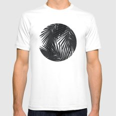 Palms Black MEDIUM White Mens Fitted Tee