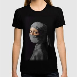 Ninja with a Pearl Earring Under Her Cowl T-shirt