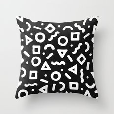 Abstract Pattern 002 - Black Throw Pillow