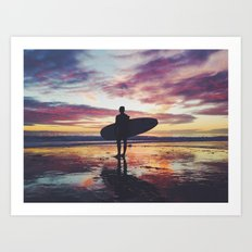 Surfing pure Color Art Print