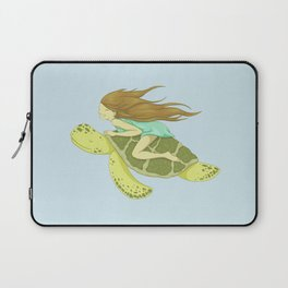 The Girl and the Turtle Laptop Sleeve