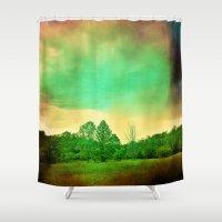illusion Shower Curtains featuring Illusion by Yoshigirl