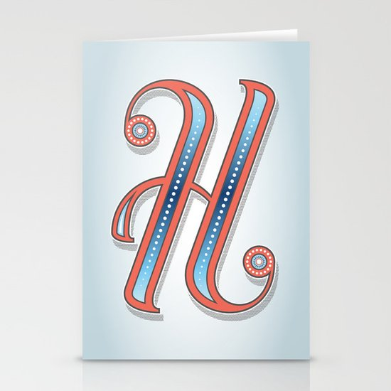 Letter H Stationery Cards