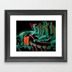 Windy Framed Art Print