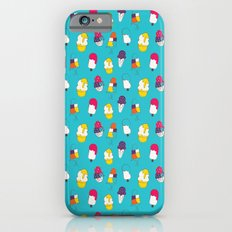 Ice cream pattern - blue Slim Case iPhone 6s