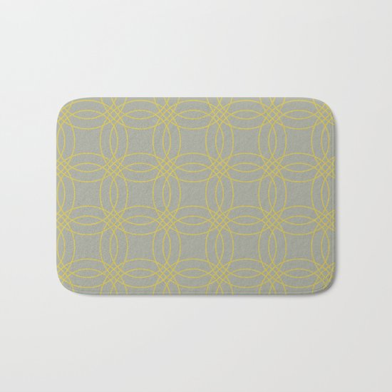 Simply Vintage Link in Mod Yellow on Retro Gray Bath Mat