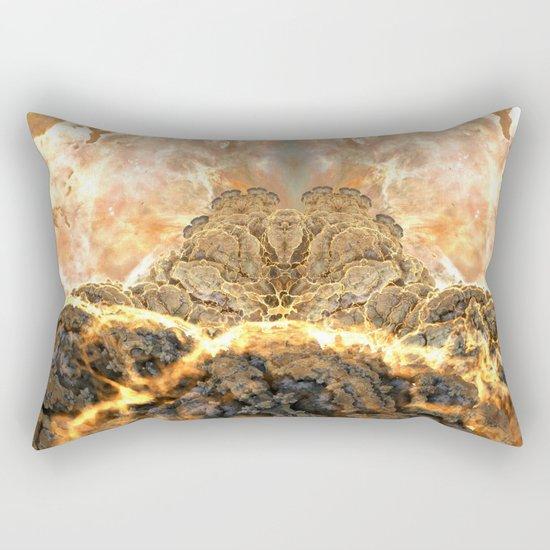 Coral Above the Sun Rectangular Pillow