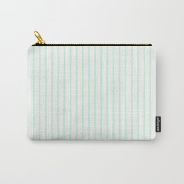 Summermint Green Pinstripe on White Pattern Carry-All Pouch