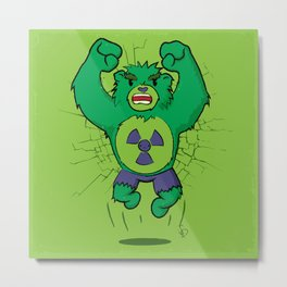 The Incredibear Hulk Metal Print