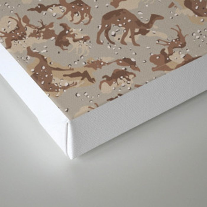 Camelflage Canvas Print
