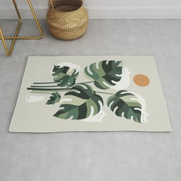 Cat and Plant 11 Rug