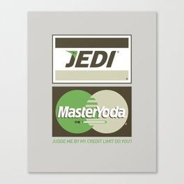 Brand Wars: Jedi Master Yoda Canvas Print