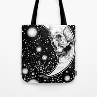 tarot Tote Bags featuring Moon Tarot by Corinne Elyse