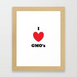 I Love GMO's Framed Art Print