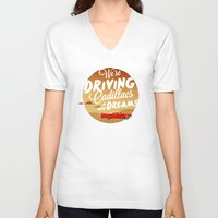 lorde V-neck T-shirts featuring We're Driving Cadillacs In Our Dreams - Lorde: Royals  by Four & Thirty