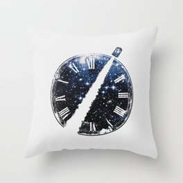 Journey through space and time Throw Pillow