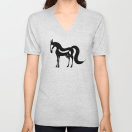 The Essence of a Horse (Black and White) Unisex V-Neck