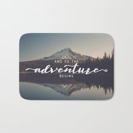 Trillium Adventure Begins - Nature Photography Bath Mat
