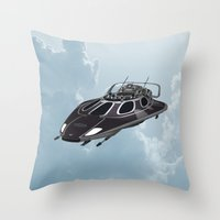 spaceship Throw Pillows featuring Spaceship by Design Windmill