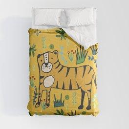 Jungle Tiger Yellow Comforters