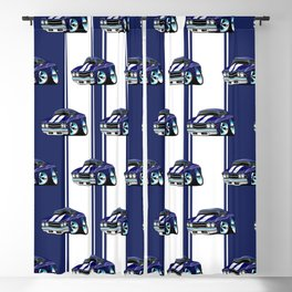 Classic American Muscle Car Street Rod Cartoon Blackout Curtain