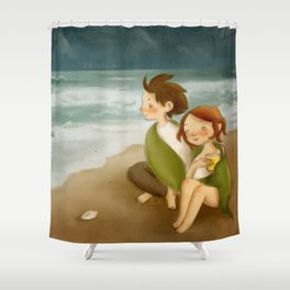 listen to the sea Shower Curtain