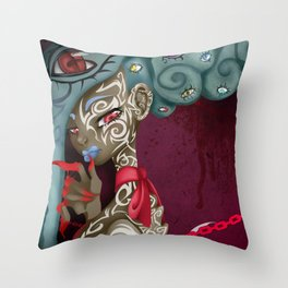 Demoness Throw Pillow