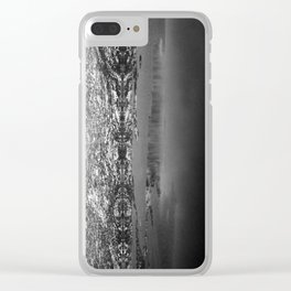 Mountain Reflections Clear iPhone Case