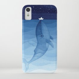 Whale blue ocean iPhone Case
