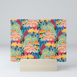 Fungi World (Mushroom world) - BKBG Mini Art Print