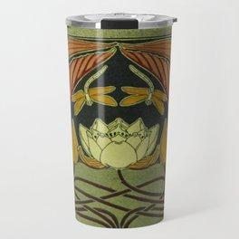Art Nouveau Lotus Travel Mug