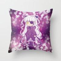 chibi Throw Pillows featuring Chibi Barasuishou by Yue Graphic Design