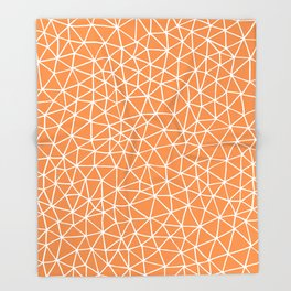 Connectivity - White on Orange Throw Blanket