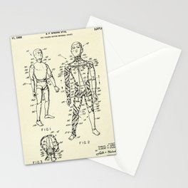 Toy Figure Having Movable Joints-1966 Stationery Cards