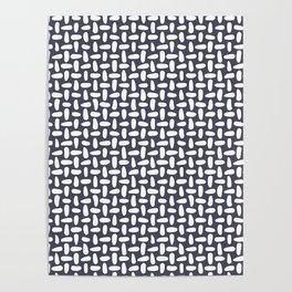 Purple stitches, minimal, stitch, seeds, mid century, abstract, pattern Poster