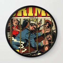 Perfect Crime Wall Clock
