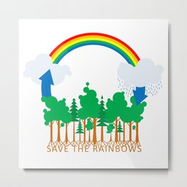 Save the Rainbows Metal Print
