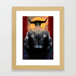 Aries Iron Bull zodiac tarot card dragon age inquisition Framed Art Print