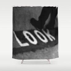 Bus line London Shower Curtain