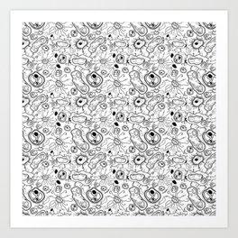 """Cells and bacteria's party"" vol 3 Art Print"