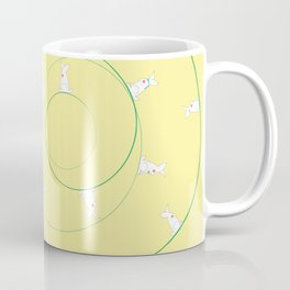 The Funny Bunnies in Lemon Yellow Coffee Mug