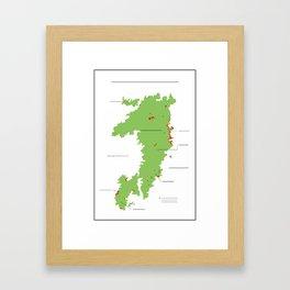 Anzac Map II Framed Art Print