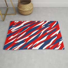 Red, White and Blue Patriotic Pattern Rug