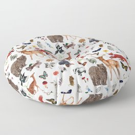 Wild Woodland Animals Floor Pillow