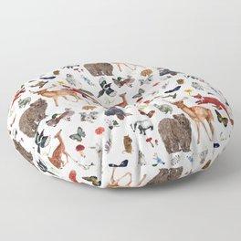 Wild Woodland Animals Floor Pillow