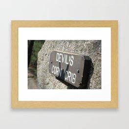 Devils Crib  Framed Art Print