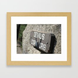 Devils Crib  Framed Art Print