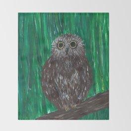 Zippy, The Owl Throw Blanket