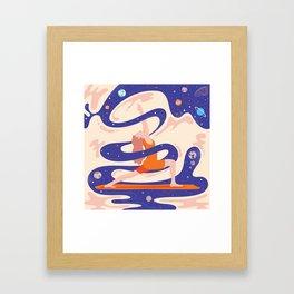 Сosmic yoga Framed Art Print